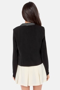 Black Swan Jackie Black Cropped Blazer at Lulus.com!