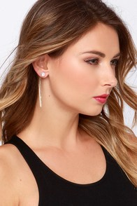 One True Pairing Gold and Pearl Earrings at Lulus.com!