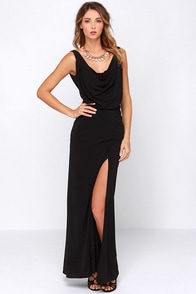 Rubber Ducky Shooting Starlet Black Maxi Dress at Lulus.com!