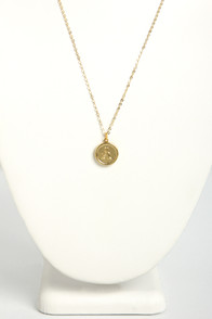 Just My Typewriter Gold A Necklace at Lulus.com!