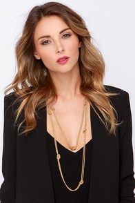 Knot Long Now! Gold Chain Necklace at Lulus.com!