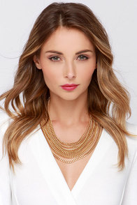 Mrs. T Gold Layered Chain Necklace at Lulus.com!
