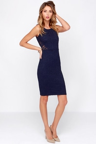 It's a Date Navy Blue Lace Midi Dress at Lulus.com!