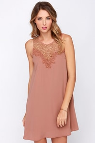 LULUS Exclusive Roulette it Roll Sleeveless Dusty Rose Dress at Lulus.com!