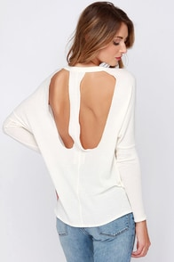 Chaser Casual Observer Cream Long Sleeve Top at Lulus.com!