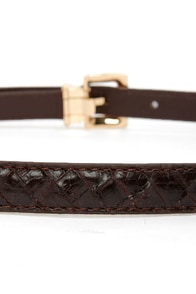 Just Say So Dark Brown Belt at Lulus.com!