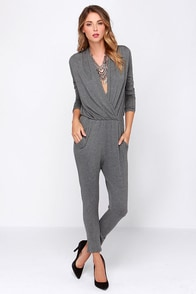 Kick Out the Jams Grey Jumpsuit at Lulus.com!