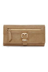 Zip Into Shape Beige Wallet at Lulus.com!