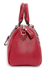 Retro My Goodness Wine Red Purse at Lulus.com!