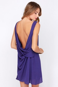 Here We Go Again Indigo Dress at Lulus.com!