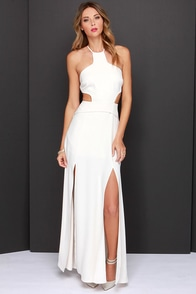 NBD Why Not Cream Maxi Dress at Lulus.com!