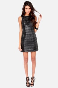 BB Dakota Branson Black Dress at Lulus.com!