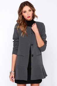 Glamorous Business Classic Grey Coat at Lulus.com!