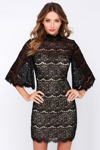 LULUS Exclusive Love in the First Degree Black Lace Dress at Lulus.com!
