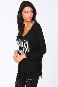 Miss Hot Shot Black Crop Tee at Lulus.com!