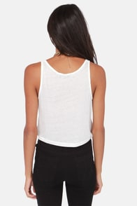 Don't Cross the Boss Ivory Crop Top at Lulus.com!