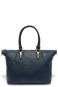 Just Hold On Navy Blue Tote at Lulus.com!