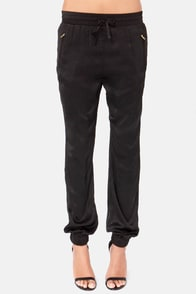Stealthy Living Black Harem Pants at Lulus.com!
