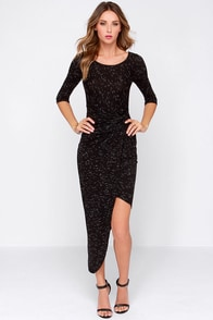 Lucy in the Sky Black Dress at Lulus.com!