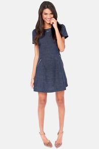 Jean Streak Blue Denim Dress at Lulus.com!