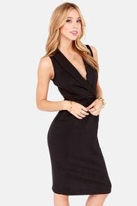 Spick and Span Black Midi Dress at Lulus.com!