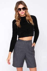 Cute to Boot Grey Bermuda Shorts at Lulus.com!