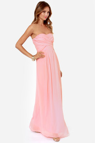 LULUS Exclusive Slow Dance Strapless Pink Maxi Dress at Lulus.com!