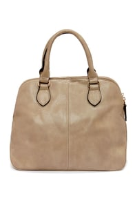 Double Duty Taupe Handbag at Lulus.com!