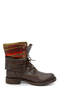 Dollhouse Strength Brown Convertible Combat Boots at Lulus.com!