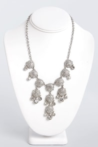 To Diamond For Silver Rhinestone Necklace at Lulus.com!