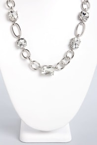 Glitz Betwixt Silver Necklace at Lulus.com!