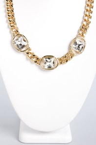 Circle Gets the Square Gold Necklace at Lulus.com!