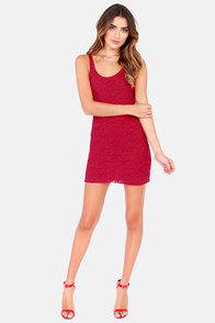 Lucy Love Honeymoon Wine Red Lace Dress at Lulus.com!