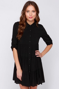 Get Together Black Dress at Lulus.com!
