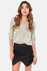 Sheen on Me Light Grey Top at Lulus.com!