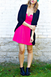 LULUS Exclusive A New Affair Strapless Hot Pink Dress at Lulus.com!