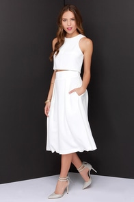 On Your Behalf Ivory Two-Piece Dress at Lulus.com!