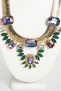 My Fair Pharaoh Gold Rhinestone Necklace at Lulus.com!