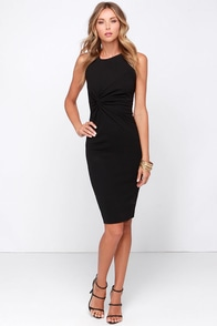 LULUS Exclusive Ladies' Night Black Midi Dress at Lulus.com!