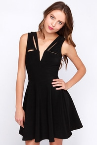 LULUS Exclusive Pretty Positive Black Skater Dress at Lulus.com!