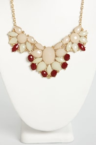 Jewel Spirit Pink Rhinestone Necklace at Lulus.com!