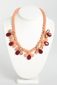 Save Me a Treat Peach Necklace at Lulus.com!