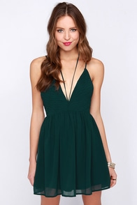 LULUS Exclusive Strappy Go Lucky Forest Green Dress at Lulus.com!