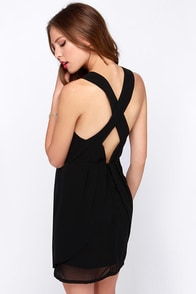 Fingers Crossed Black Wrap Dress at Lulus.com!