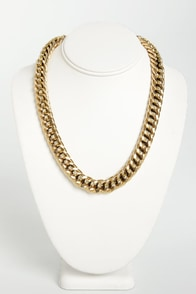Like a Champion Gold Chain Necklace at Lulus.com!