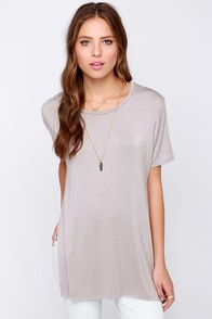 LULUS Exclusive Slit Me Up Grey High Low-Top at Lulus.com!