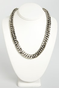 Like a Champion Silver Chain Necklace at Lulus.com!