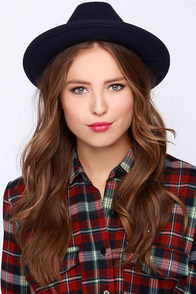 Get Ready Navy Blue Fedora Hat at Lulus.com!