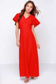 Glamorous Long Story Short Red Maxi Dress at Lulus.com!