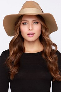 Just Deserts Camel Fedora Hat at Lulus.com!